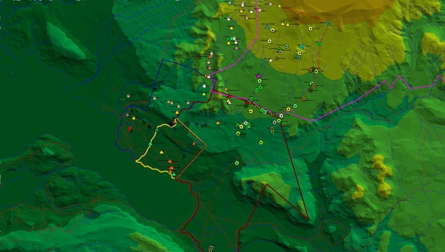 Un'altra immagine GIS realizzata in ArcView
