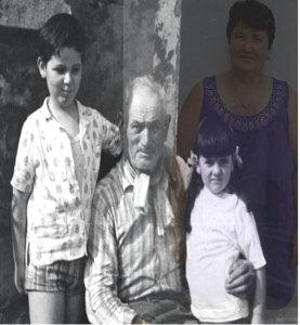 foto di famiglia italiana con presenza straniera di cura